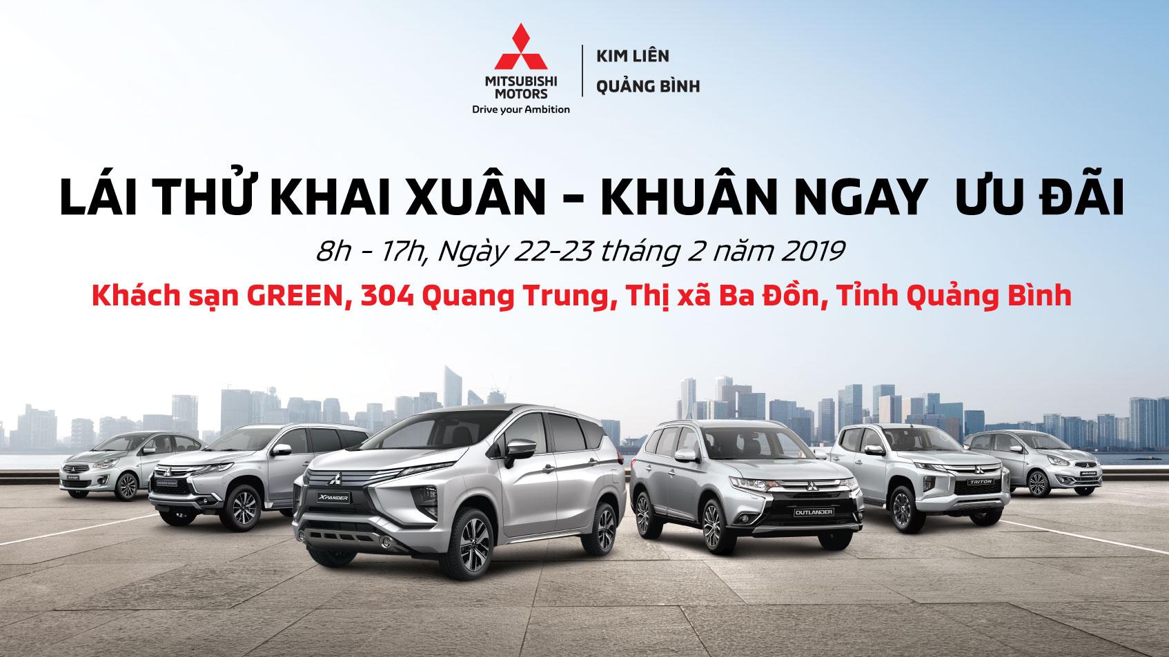 Sự kiện trưng bày và lái thử xe tại Thị xã Ba Đồn tỉnh Quảng Bình